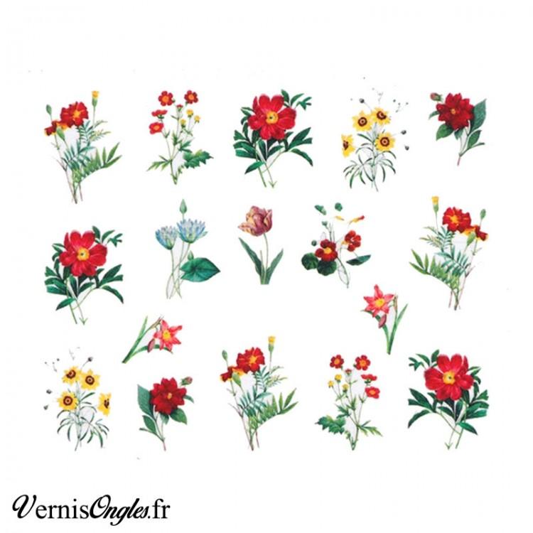 Water decals fleurs des champs