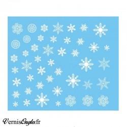 Water decals flocons de neige