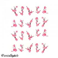 Water decals fleurs de cerisier