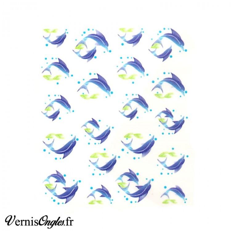Water decals dauphins