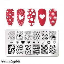 Plaque de stamping Nicole Diary n° 028