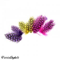 Boite de perles Rose transparent genre caviar pour ongles
