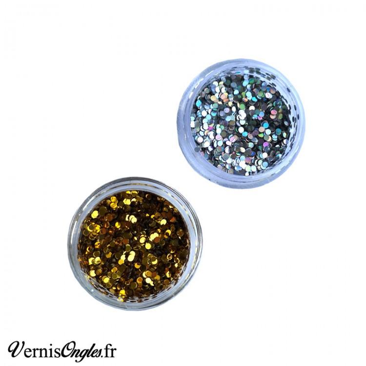 Paillettes rondes 1mm