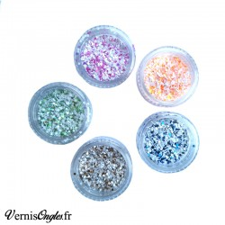 Paillettes mix blanc couleur