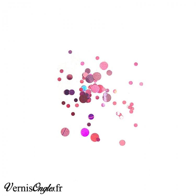 Paillettes rondes multi-tailles couleur au choix