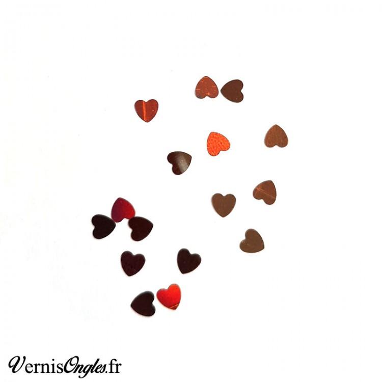 Paillettes cœurs couleur au choix