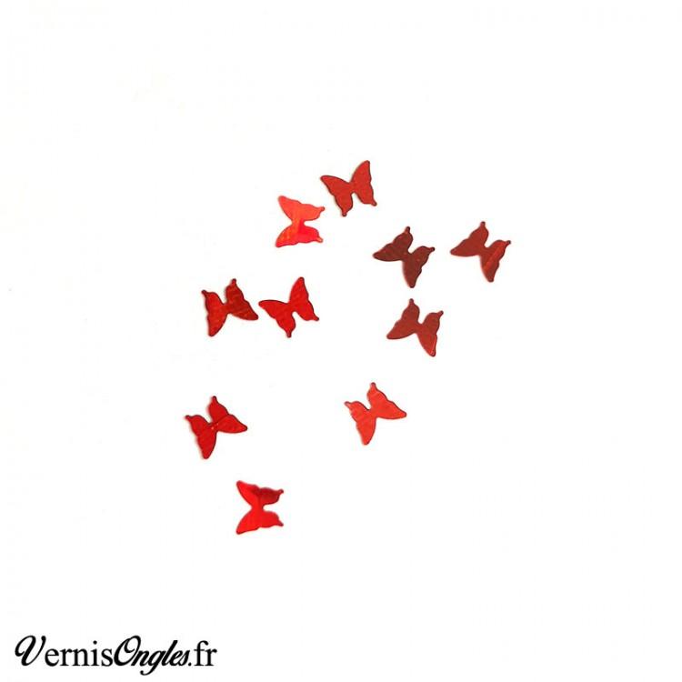 Paillettes petits papillons couleur au choix