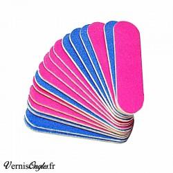 Petite mini-lime a ongles en carton rose et bleue