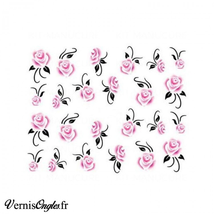 Water decals roses anciennes