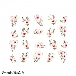 Water decals fleurs fines