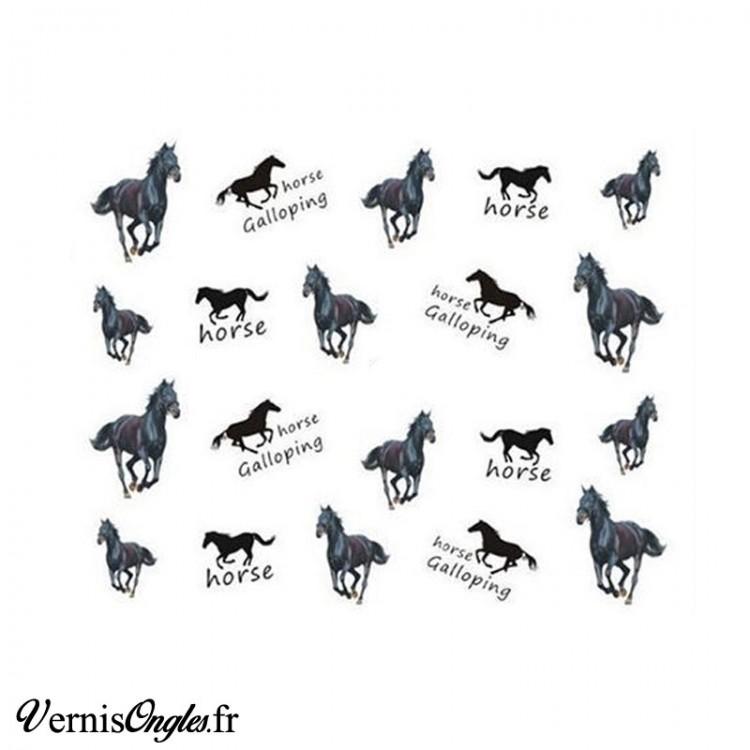 Water decals chevaux