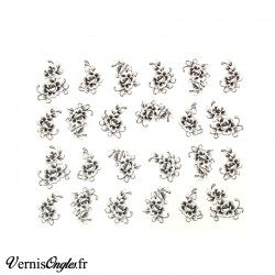 Stickers autocollants Serpents Paillettes Or et Argent