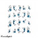 Stickers autocollants 1/2 Coeur Water Marble Glitter Paillette