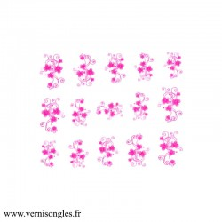 Water decals arabesques et fleurs