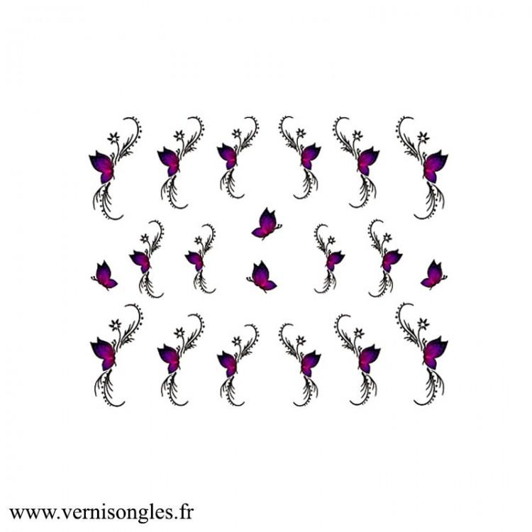 Water Decal Lignes Rubans Vichy Noir et Gris