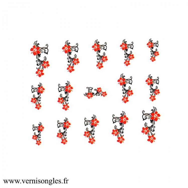 Water decals hibiscus