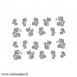 Water decals fleurs